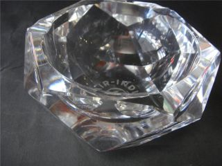 Cut Crystal AIR INDIA ashtray with Airlines Logo signed VAL ST LAMBERT