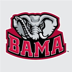 Alabama Crimson Tide Bama Logo 6 Vinyl Decal Car Truck Sticker UA