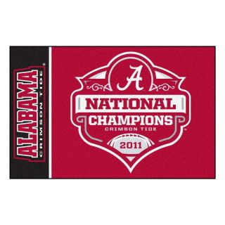 Alabama Crimson Tide 2011 BCS National Champions 20 x 30 Area Rug