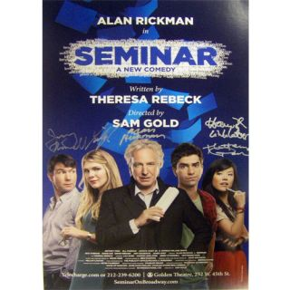 com auction seminar broadway rare poster signed by alan rickman