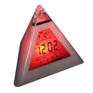 Cool Multi Colors LED Fantastic Electronic Pyramid Mood Alarm Clock