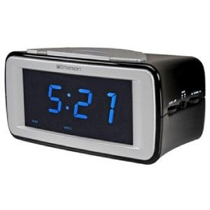 Display Smartset Dual Alarm Clock Radio Auto Time Set Battery