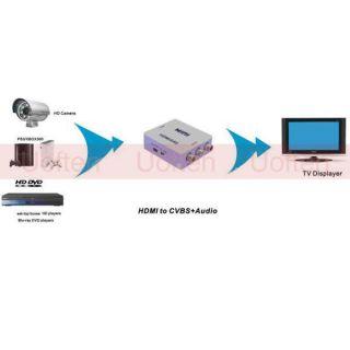PAL NTSC TV PC PS3 DVD Mini HD HDMI to AV CVBS RCA Video Composite