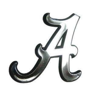 Alabama Crimson Tide Chrome Auto Emblem Car Sticker Al Silver Logo