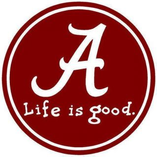 Alabama Crimson Tide Life Is Good 8x10 T Shirt Iron on Transfer 8