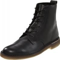 Clarks Men Desert Mali 34364 Black Leather Military Boot Retail $185