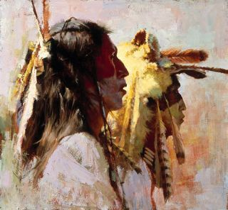 Howard Terpning Proud Men Giclee Canvas Native American