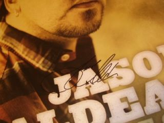 Jason Aldean Autographed 22 x 22 Handsome Color Wide Open Poster