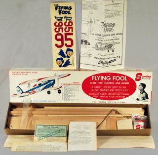 Sterling The Flying Fool Control Line Wood Model Airplane Kit