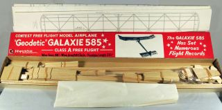 Kyosho Geodetic Galaxie 585 Free Flight Wood Model Airplane Kit