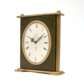 RARE Jaeger LeCoultre Recital 8 Days Alarm Clock Galalith Brass