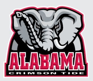 Alabama Crimson Tide Primary Elephant Logo 4 Vinyl Decal Car Truck