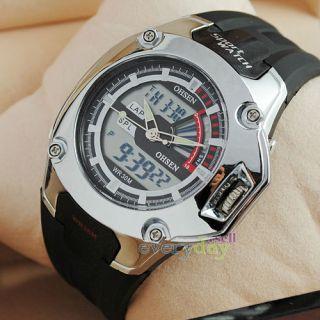 Mens Boy Multi Function Dive Sport Watch Alarm Date LED Digital
