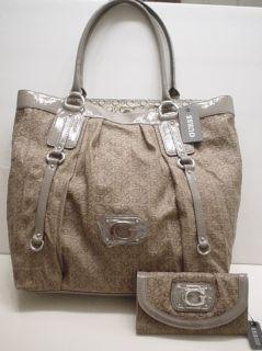 Guess Marciano Alameda Taupe Large Bag Purse Handbag Wallet Set