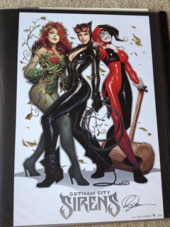 Alex Garner SDCC Print Catwoman Batman Poison Ivy Harley Quinn Gotham