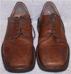 42 Franco Fortini Brown Patent Leather Oxford Made in Italy Dress
