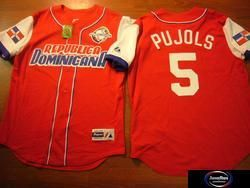 Dominican Republic Cardinals Albert Pujols Jersey SM