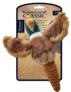 American Classic AKC Pheasant Dog Toy 3 Sizes Small Large Rope Neck