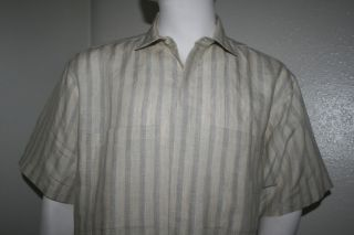 Albert Nipon Mens Vtg Short Sleeve Shirt Size L
