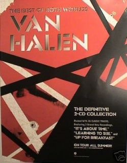 Van Halen 2 U s Promo Posters The Best of Both Worlds Vhiii Alex