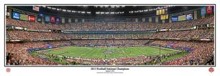 Alabama Crimson Tide 2011 NATIONAL CHAMPIONS BCS Game Panoramic Poster