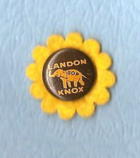 1936 Al Landon political campaign button pin pinback  SUNFLOWER