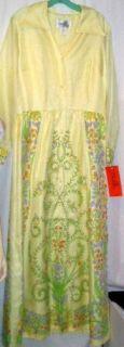 Vintage Alfred Shaheen Hawaiian Long Dress Sz 18