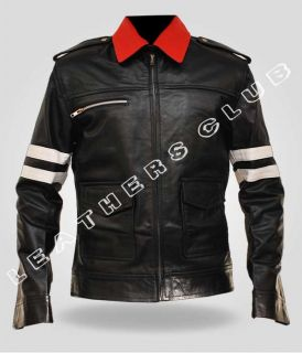 Mens PROTOTYPE Alex Mercer Gaming Leather Jacket   Black   All Sizes