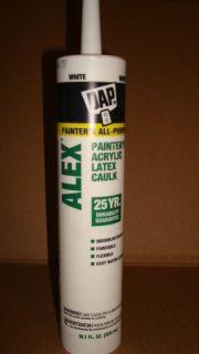 DAP Alex Plus 10 1oz Acrylic Latex Caulk Silicone 25yr Brilliant White