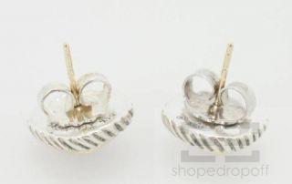 David Yurman Sterling Silver & 14K Gold Amethyst Albion Stud Earrings