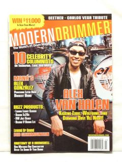 Modern Drummer Magazine Alex Van Halen Alex Gonzalez