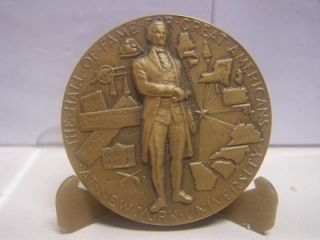 Art Hall of Fame Great Americans at N Y U Medal Alexander Hamilton