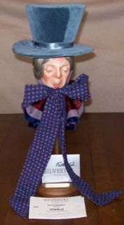 Alice in Wonderland Mad Hatter Porcelain Doll Figure