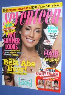Seventeen Magazine July 2008 Alicia Keys Thompson Model