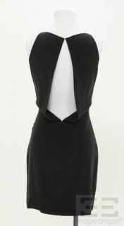 Alexander Wang Black Silk Sleeveless Open Back Belted Dress Size 0