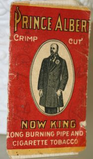 Rare NOW KING Prince Albert Tobacco not tin can Rolling Papers Winston