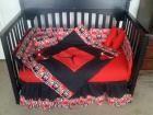 New crib bedding set w/ MICHAEL JORDAN &CHICAGO BULLS fabric