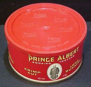 Reynolds Tobacco Company vintage Prince Albert 7 oz flat round