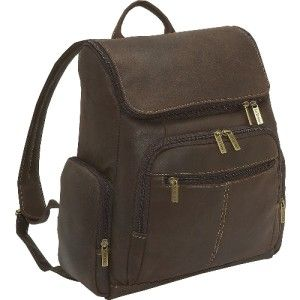Le Donne Leather Large Distressed Leather Laptop Backpack