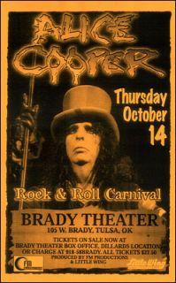 Alice Cooper Original 1999 Tulsa Concert Poster