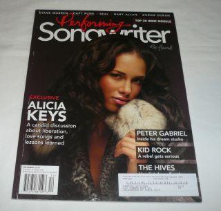 Dec 2007 Performing Songwriter Alicia Keys Peter Gabriel Kid Rock The