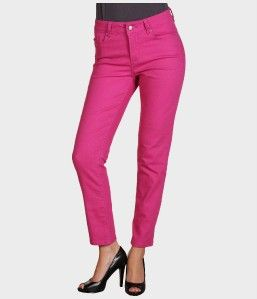 NYDJ not Your Daughters Jeans Alisha Skinny Ankle Pants Fuchsia 10 US