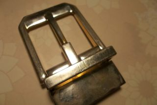Alfred Dunhill London Gold Gilt Steel Authentic Designer Belt Buckle