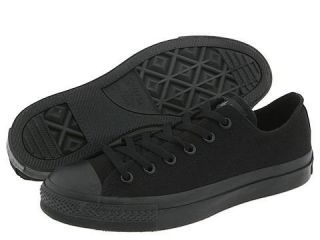 New All Black Converse All Star Men Low Top Shoes