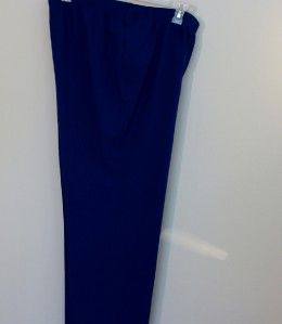 Alia Royal Blue Electric Blue Elastic Waist Pants 20 1x Plus Pants