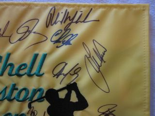 2012 Shell Houston Autographed Signed Golf Flag PGA PSA Mickelson