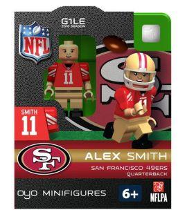 Alex Smith OYO Mini Fig Figure Lego Compatible San Francisco 49ers NIP