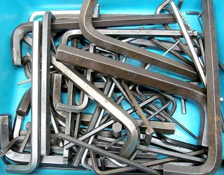 LOT OF ASSORTED HEX KEYS / ALLAN WRENCHES   5 64 TO 3/4 DIA