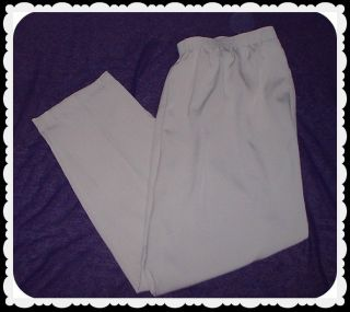 Allison Daley Womens Khaki Elastic Waist Dress Casual Pants Plus Size