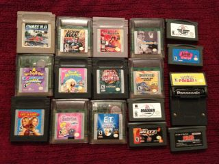 Lots of Game Boy Game Boy Color and Game Boy Advance Games Lots to